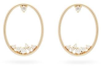 Mizuki Diamond & 14kt Gold Hoop Earrings - Pearl