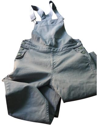 Sweet Pants Grey Cotton Jumpsuits