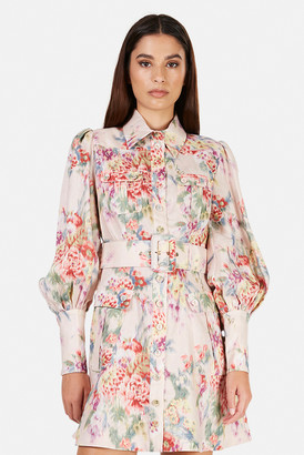 Zimmermann Wavelength Billow Sleeve Mini Dress