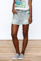 Signature 8 Distressed Denim Skirt