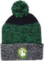 '47 Boston Celtics Black Static Pom Knit Hat