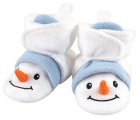 Hudson Baby Baby Girls and Boys Snowman Cozy Fleece Booties