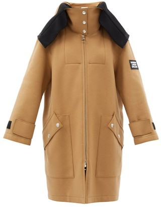 Burberry Lisburn Wool-blend Hooded Duffle Coat - Beige Multi