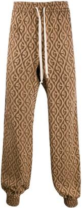 Gucci Diamond Checkered G Track Trousers