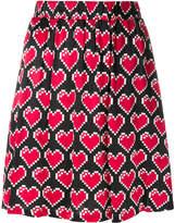 Love Moschino heart pixel skirt