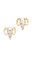 Alexis Bittar Horned Ram Stud Earrings