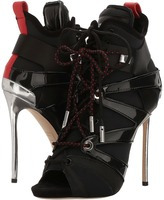 DSQUARED2 Neoprene Vitello Ankle Boot Women's Lace-up Boots