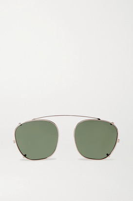 The Row Oliver Peoples Board Meeting Aviator-style Gold-tone Clip-on Sunglasses