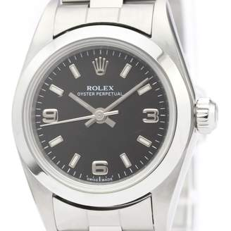 Rolex Lady Oyster Perpetual 24mm Black Steel Watches