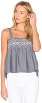 Current/Elliott The Smocked Tank in Blue. - size 2 / M (also in )