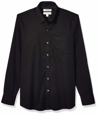 Goodthreads Slim-fit Long-sleeve Comfort Stretch Poplin With Easy-care Button Down Shirt