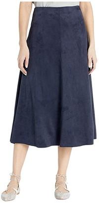 Lysse Dock Skirt in Summer Vegan Suede (Navy) Women's Skirt