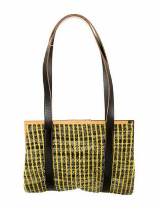 Marni Knitted Wool Shoulder Bag Yellow