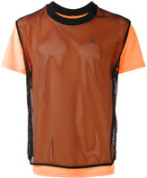 adidas layered fishnet T-shirt - men - Polyester - S