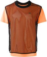 adidas layered fishnet T-shirt
