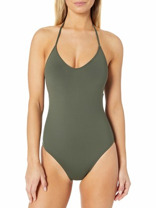 La Blanca Women's Island Goddess Scoop Front Lingerie Mio One Piece Swimsuit