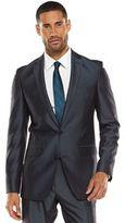 Apt. 9 Men's Extra-Slim Herringbone Blue Suit Jacket
