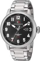 Tommy Hilfiger Men's 'Jasper' Quartz Stainless Steel Automatic Watch, Color: Silver-Toned (Model: 1791312)