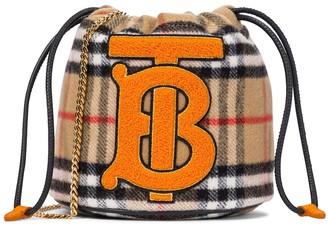 BURBERRY KIDS Vintage Check wool bucket bag