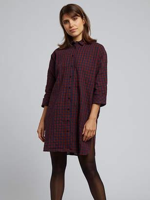 Louche KETSIA GINGHAM SHIRT TUNIC DRESS UK 8