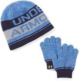 Under Armour Little Boys Striped Beanie Hat & Gloves Set