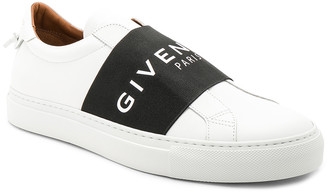 Givenchy Elastic Sneakers in White & Black | FWRD