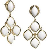 Elizabeth Showers Simone 18k Gold Agate Chandelier Earrings