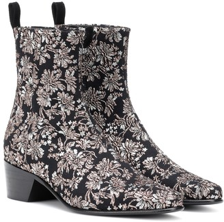 Pierre Hardy Reno floral brocade ankle boots