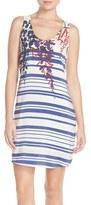 Charlie Jade Women's Placed Print Silk Tank Dress