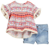 Jessica Simpson Top & Demin Set (Baby Girls)