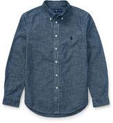 Ralph Lauren 8-20 Indigo Cotton Chambray Shirt