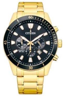 Citizen Men's Chronograph Gold-Tone Stainless Steel Bracelet Watch 44mm