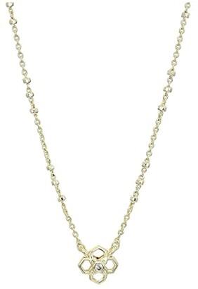 Kendra Scott Rue Short Pendant Necklace (Gold Metal) Necklace