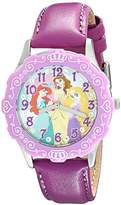 Disney Kids' W001979 Princess Analog Display Analog Quartz Purple Watch