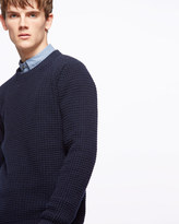 Made In Italy Cashmere Waffle Stitch Jumper