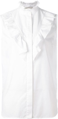 Stella McCartney Ruffle Detail Sleeveless Shirt