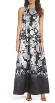 Alfred Sung Women's Floral Sateen Gown