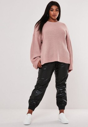 Missguided Plus Size Rose Crew Neck Sweater