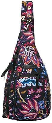Vera Bradley Iconic Mini Sling Backpack (Foxwood) Backpack Bags