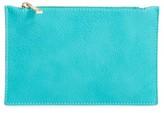 BP Faux Leather Zip Pouch - Blue