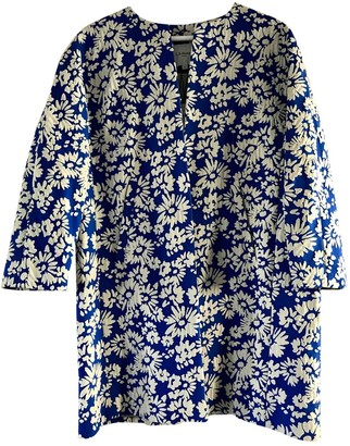 LK Bennett Blue Cotton Coat for Women