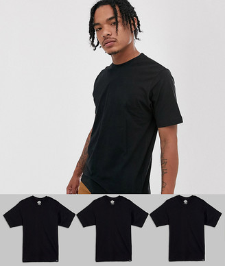 Dickies 3 pack t-shirts in black
