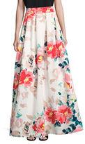 Eliza J Box-Pleat Floral Skirt
