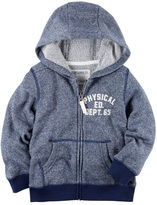 Carter's Zip-Up Marled French Terry Hoodie
