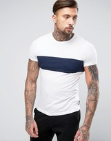 French Connection 1 Stripe T-Shirt with Pocket