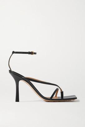 Bottega Veneta Leather Sandals - Black