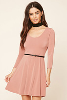 Forever 21 FOREVER 21+ Belted Skater Dress