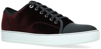 Lanvin Velvet Cap Toe Sneakers