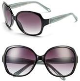 Fossil Women's 'Carlson' 59Mm Square Sunglasses - Black