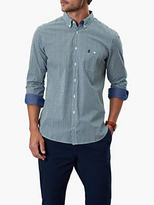 Joules Abbott Slim Fit Shirt, Green Blue Check